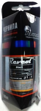 Чернила REVCOL для Canon/HP/Lexmark 100 ml BLACK (водн) универсальные